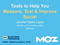 Tools to Help You Measure Test and Improve Your Social Media Efforts by Jennifer Sable Lopez