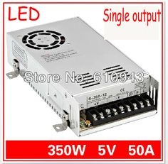 S-350-5V 50A  Single Output Switching power supply for LED SMPS AC to DC #Affiliate