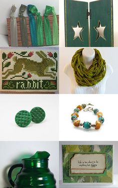 AAHS SWEET 16 PROMO TREASURY #greens #etsyshop #handmade #giftideas #giftcollections