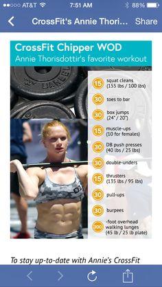 CrossFit's Annie Thorisdottir: Two-Time World's Fittest Woman ... Annie's favorite WOD