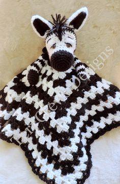 Crochet Blankets Design Zebra Huggy Blanket Crochet Pattern Baby Blanket, Softie, Lovey Pattern by Teri Crews - Crochet Zebra, Crochet Lovey, Manta Crochet, Baby Blanket Crochet, Crochet Toys, Knit Crochet, Crochet Stitches, Crochet Elephant, Crochet Blankets