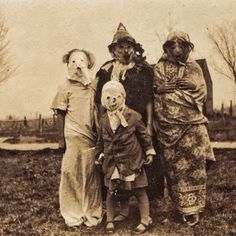 Halloween in the olden days was a lot more scarier than it is today, as most costumes were home made from old scraps of material. Description from indulgy.com. I searched for this on bing.com/images