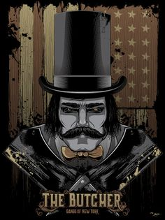 The Butcher Gangs of New York Poster by Seventh.Ink