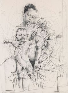 Jenny Saville drawing. Inspired just saw her at Ashmolean.