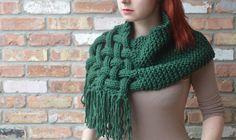 PATTERN SALE Knit cowl scarf pattern - Package of Knit woven scarf, knit cowl scarf, cowl, knitting pattern, tutorial Hooded Scarf, Cowl Scarf, Knit Cowl, Cable Knit, Chunky Knit Scarves, Woven Scarves, Vogue Knitting, Loom Knitting, Knitting Needles