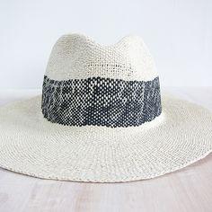 Bailey Hats wide stripe fedora - natural black on Garmentory 6ef622c29e3d