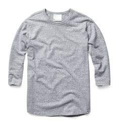 Varsity sports-inspired tee with 3/4 sleeves and textured all-over pattern. For extra comfort raglan sleeve. www.g-star.com