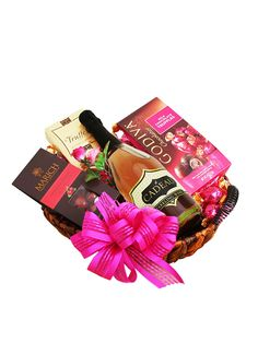 Think pink and give your heart's desire a gift that will make their Valentine's Day truly sparkle. This basket features Jacquot chocolate truffles, Godiva milk chocolate truffles, Marich chocolate-covered cherries and a bottle of our le Cadeau California Rosé Sparkling Wine. Available through the end of February. Get it here: https://www.wineshopathome.com/shop/products/gifts/hearts-desire-gift-basket/?rep=rivkakaminetzky