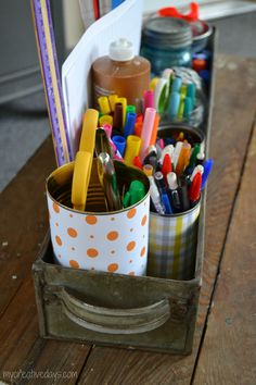 mycreativedays: Organizing A Homework Station
