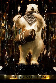Louis Vuitton Polar Bear Christmas 2012 Galeries LaFayette Paris Display