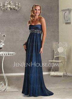 Evening Dresses - $126.99 - Graceful A-Line/Princess Sweetheart Sweep Train Charmeuse Evening Dresses With Ruffle Beading (017004366) http://jenjenhouse.com/pinterest-g4366