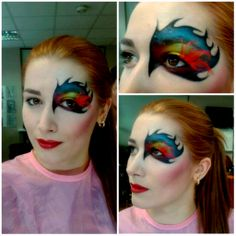 Tried some creative make up myself. Wing