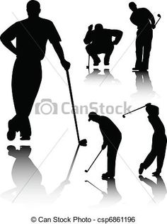 angry golfer clip art silhouette - Google Search