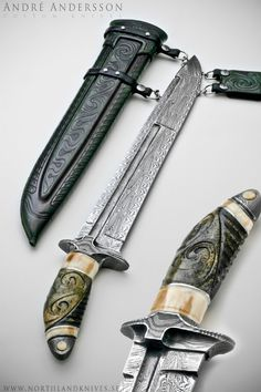 Nebula Sabre from Andre Andersson Custom Damascus Knives - Knives, Daggers, Swords and Artknives from Sweden
