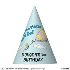 Oh, The Places He'll Go! - First Birthday Party Hat