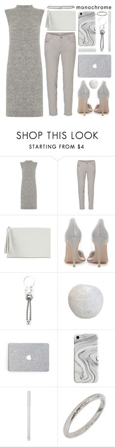 """""""apples"""" by foundlostme ❤ liked on Polyvore featuring Mint Velvet, Jessica McClintock, Gianvito Rossi, Tod's, Dowse, Recover, Rimmel, Tiffany & Co., IRO and monochrome"""