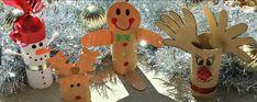 weihnachtsbasteln mit kindern basteln mit klopaierrollen schneelandschaft