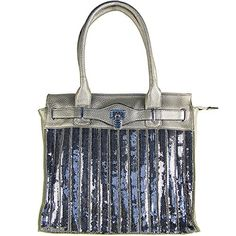 GRAY RHINESTONE SEQUENCE LOOK SHOULDER HANDBAG COUNTRY FASHION PURSE *** Read more  at the image link.