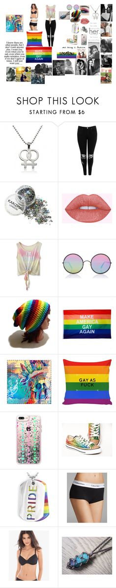 """""""Definitely lesbian"""" by michaelagoldinger ❤ liked on Polyvore featuring BeYou, Love Quotes Scarves, Boohoo, Chicwish, Sunday Somewhere, Casetify, West Coast Jewelry, Calvin Klein and Chantelle"""