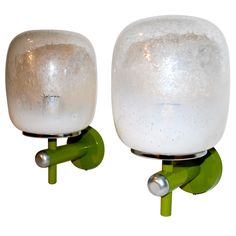 for a vintage touch - pair of murano seguso sconces - italy - mid20c. -   LENGTH:     7 in. (18 cm)         DEPTH:     8 in. (20 cm)         HEIGHT:     12 in. (30 cm)