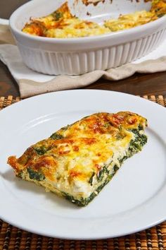Spinach and Feta Clafoutis. A clafoutis is a French dish where an egg batter, generally filled with something, is baked. A savoury take on a clafoutis with all of your favourite flavours from spanakopita the Greek spinach pie. Quiche Recipes, Veggie Recipes, Brunch Recipes, Breakfast Recipes, Vegetarian Recipes, Cooking Recipes, Breakfast Ideas, Dishes Recipes, Breakfast Spinach