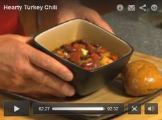 FOR AFTER THANKSGIVING... Have you ever wondered what to do with leftover turkey, besides make sandwiches? Well, today we're going to make some hearty turkey chili, and this is a recipe that's going to help us enjoy simple food.