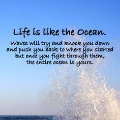Karima's Crafts inspirational poster life is like the ocean