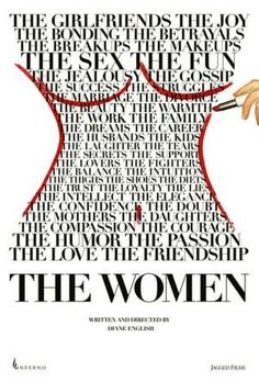Typographic Movie Poster Design - The Women Magazine Pictures, Woman Movie, Typographic Poster, The Girlfriends, Thing 1, Typography Quotes, Jealousy, Graphic Design Inspiration, Sketch Inspiration