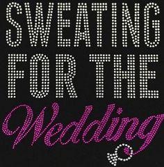 Mrs Iron on Rhinestone T-Shirt Bling Bride Groom Bridal Top Cursive Letter