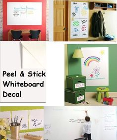 Whiteboard Removable Vinyl Sticker Dry erase white board Sheet Decal x Stick On Whiteboard, Whiteboard Sticker, Wall Sticker, Decals, Indoor Playroom, Felt Stories, Wall Anchors, Diy Cleaning Products, Kids Room