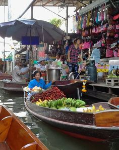 At a floating market in Bangkok, Thailand. Photo: Pat Johnson