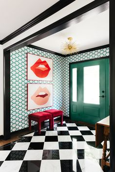 Estilo Kitsch, Interior Inspiration, Design Inspiration, Hallway Inspiration, Interior Photography, Interior Exterior, Interior Paint, Modern Spaces, Cool Posters