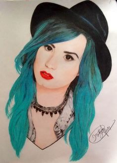 Desenho Demi Lovato por Matheus Aldrin. #Drawing #DemiLovato #Art Abstract Drawings, My Drawings, Princess Protection Program, Rp Ideas, Colored Pencil Techniques, Human Drawing, Eyebrows On Fleek, Artist Profile, Maxi Skirts