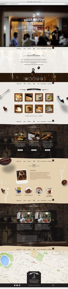 Webdesign / Website MissCaffè on Behance