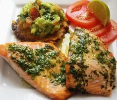 Lime Cilantro Salmon. One of my absolute faves!