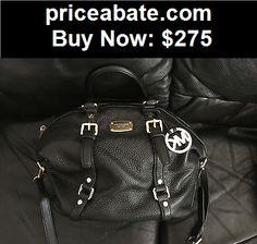 Women-Handbags-and-Purses: Michael Kors Black Medium Bedford Pebbled Leather Satchel Shoulder Handbag NWT - BUY IT NOW ONLY $275