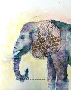 From a series of non-dominant hand studies I completed in June/July of 2014.   #elephantart #elephant