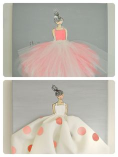 Little princess in tutu  Bright pink Hand by ShenasiConcept