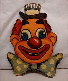 Original handpainted circus or carnival board sign, circa This is not a flimsy paper poster, it is constructed on thick old-fashioned masonite board. Carnival Signs, Carnival Posters, Vintage Circus Posters, Vintage Carnival, Poster Vintage, Vintage Wall Art, Vintage Walls, Vintage Signs, Clown Images