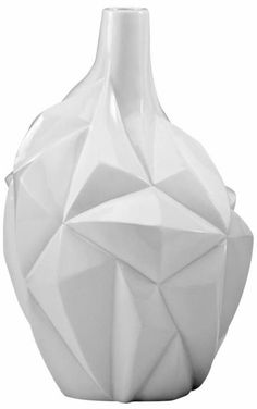 Glacier Glass White Resin 13-Inch-H Small Vase See more... http://www.eurostylelighting.com/4/entertaining-search/search.htm #interior_design #entertaining #holidays #home_decor
