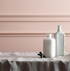 Melon walls and milky white accents are both sweet and subtle spring accents. Paint Schemes, Color Schemes, Wall Colors, Paint Colors, Dream Painting, Benjamin Moore Paint, Fruit Shakes, Pink Room, Kids Room Design
