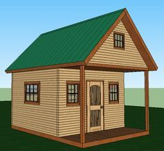 Build a solar-powered cabin that sleeps six for $2000 plus the costs of windows, doors, and a small porch.