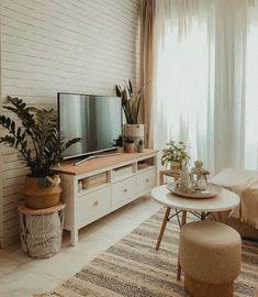Home Room Design, Home Interior Design, Living Room Designs, Boho Living Room, Living Room Decor, Bedroom Decor, Small Apartment Interior, Living Room Interior, Living Room Inspiration