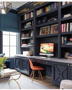 """3,207 Likes, 69 Comments - Ashley Stark Kenner (@ashleytstark) on Instagram: """"Would you prefer to work from home?  A gorgeous home office by @ashleygoforth • • • • • #art…"""""""