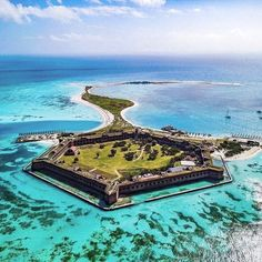This Unfinished Florida Fort in Dry Tortugas National Park is a national treasure. Unreal views great history and great snorkel and SCUBA trip. Visit Dry Tortugas National Park and Fort Jefferson 70 miles from Key West. Florida Travel, Travel Usa, Miami Florida, West Florida, Miami Beach, Places To Travel, Places To See, Star Fort, Pride Of America