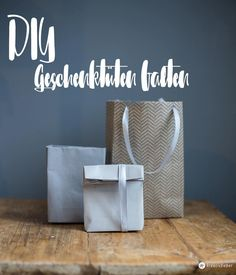 DIY Geschenktüten falten - eine Schritt für Schritt Anleitung - verschiedene Varianten - schnelle DIY Idee