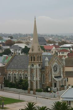 Old Church in Central, Port Elizabeth, South Africa as seen from the Donkin.yet another symbol of white supremacy changing the thinking and customs of Indigenous Church Architecture, Beautiful Architecture, Pretoria, Port Elizabeth South Africa, Cathedral Church, Old Churches, Church Building, Chapelle, Place Of Worship