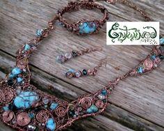 Turquoise & Copper Artwear Set, $329.99