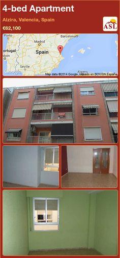 4-bed Apartment in Alzira, Valencia, Spain ►€62,100 #PropertyForSaleInSpain