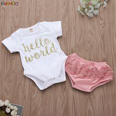 BNWT Baby Girl Beautiful 3 Piece Set Short Trouseurs Top /&  Hair  Accessory